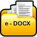 e-DOCX Icon